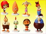Click for FULL SET OF 8PC DISNEY CHICKEN LITTLE BOBBLEHEAD FIGURE COLLECTION Detail