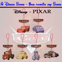 Click for FULL SET OF 6PC DISNEY PIXAR MOVIE CARS FIGURE CELL PHONE STRAP COLLECTION JAPAN VERSION Detail