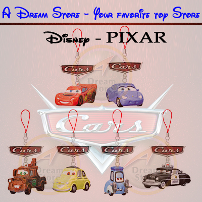 Detail Picture for FULL SET OF 6PC DISNEY PIXAR MOVIE CARS FIGURE CELL PHONE STRAP COLLECTION JAPAN VERSION