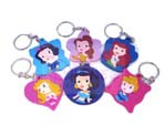 Click for FULL SET OF 6PC Disney Princess Rubber Keychain COLLECTION BY TOMY Detail