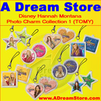 Click for FULL SET OF 8PC DISNEY HANNAH MONTANA PHOTO CHARMS COLLECTION Detail
