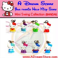 Click for FULL SET OF 8PC HELLO KITTY MINI SWING CELL PHONE STRAP COLLECTION Detail