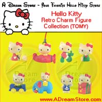Click for FULL SET OF 8PC HELLO KITTY RETRO CHARM  CELL PHONE STRAP COLLECTION Detail