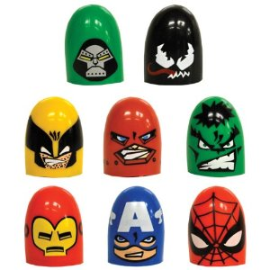 FULL SET OF 8PC MARVEL HEROES THUMB WRESTLERS COLLECTION Picture