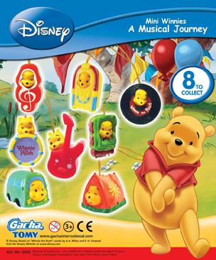 Click for FULL SET OF 8PC WINNIE THE POOH Peek-A-Pooh MINI WINNIES MUSICAL JOURNEY COLLECTION CANADA VERSION Detail