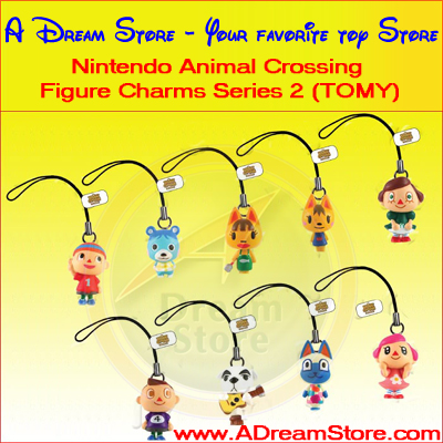 Detail Picture for FULL SET OF 8PC NINTENDO ANIMAL CROSSING FIGURE CHARM COLLECTION SERIES 2