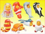 Click for FULL SET OF 8PC WINNIE THE POOH PEEK-A-POOH FIGURE SERIES 7 SEA COLLECTION Detail