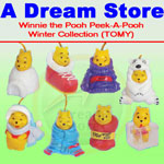 Click for FULL SET OF 8PC WINNIE THE POOH Peek-A-Pooh WINTER COLLECTION ITALY VERSION Detail
