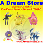 Click for FULL SET OF 6PC THE POKEMON FUN FIGURE CHARMS COLLECTION SERIES 5 BY TOMY Detail