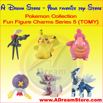 Detail Picture for FULL SET OF 6PC THE POKEMON FUN FIGURE CHARMS COLLECTION SERIES 5 BY TOMY