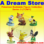 Click for FULL SET OF 6PC THE POKEMON BUILDABLE FIGURE COLLECTION SERIES 3 BY TOMY Detail