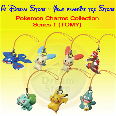 Detail Picture for FULL SET OF 7PC THE POKEMON CHARMS COLLECTION 1 BY TOMY