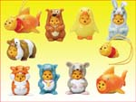 Click for FULL SET OF 8PC WINNIE THE POOH Peek-A-Pooh FIGURE COLLECTION SERIES 6 Detail