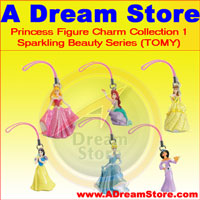 Click for FULL SET OF 6PC Disney Princess Figures Charm COLLECTION Series 1 BY TOMY Detail