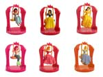 Click for FULL SET OF 6PC Disney Princess Figures COLLECTION Set #4 BY TOMY Detail