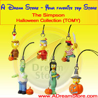 Click for FULL SET OF 6PC THE SIMPSON HALLOWEEN CELL PHONE CHARM COLLECTION Detail