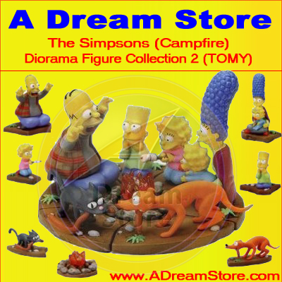 Detail Picture for FULL SET OF 7PC THE SIMPSON DIORAMA FIGURE COLLECTION 2 CAMPFIRE EDITION