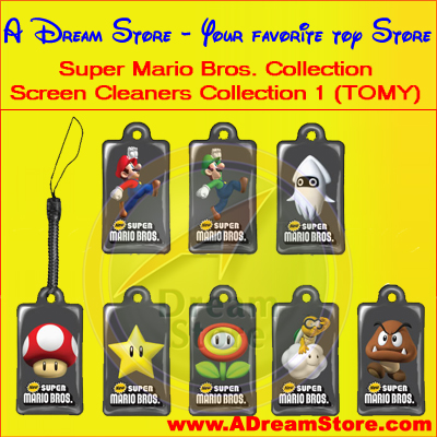 Detail Picture for FULL SET OF 8PC SUPER MARIO BROS. SCREEN CLEANERS COLLECTION 1