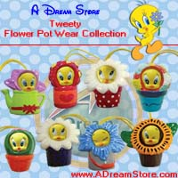Click for FULL SET OF 8PC TWEETY FLOWER POT WEAR FIGURE COLLECTION Detail