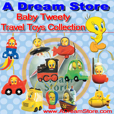 Detail Picture for FULL SET OF 11PC TWEETY TRAVEL TOYS FIGURE COLLECTION