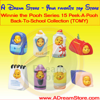 Click for FULL SET OF 8PC WINNIE THE POOH PEEK-A-POOH BACK-TO-SCHOOL FIGURE COLLECTION SERIES 15 Detail