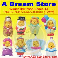 Click for FULL SET OF 8PC WINNIE THE POOH PEEK-A-POOH CIRCUS FIGURE COLLECTION SERIES 13 Detail