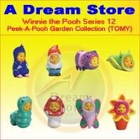 Click for FULL SET OF 8PC WINNIE THE POOH PEEK-A-POOH Garden FIGURE COLLECTION SERIES 12 Detail