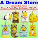 Click for FULL SET OF 8PC WINNIE THE POOH Peek-A-Pooh DOG COLLECTION CANADA VERSION Detail