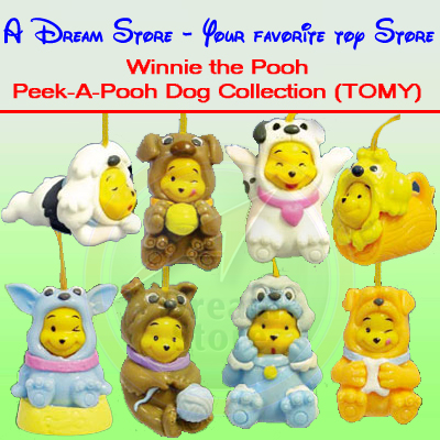 Detail Picture for FULL SET OF 8PC WINNIE THE POOH Peek-A-Pooh DOG COLLECTION CANADA VERSION