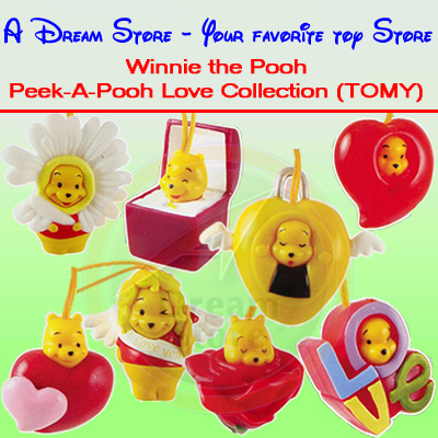 Detail Picture for FULL SET OF 8PC WINNIE THE POOH Peek-A-Pooh LOVE COLLECTION Italy Verison