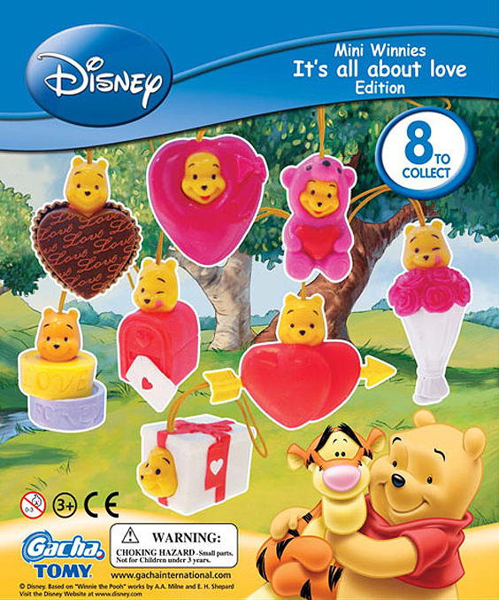 Click for FULL SET OF 8PC WINNIE THE POOH Peek-A-Pooh IT