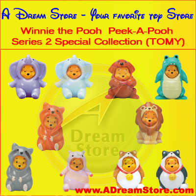 Detail Picture for FULL SET OF 10PC WINNIE THE POOH PEEK-A-POOH FIGURE COLLECTION SERIES 2 SPECIAL REPRODUCTION