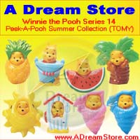 Click for FULL SET OF 8PC WINNIE THE POOH PEEK-A-POOH SUMMER FIGURE COLLECTION SERIES 14 Detail