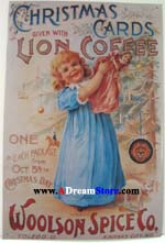 Click for LION COFFEE GIRL WITH TREE Detail