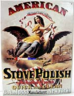Click for AM. STOVE POLISH / GIRL ON EAGLE Detail